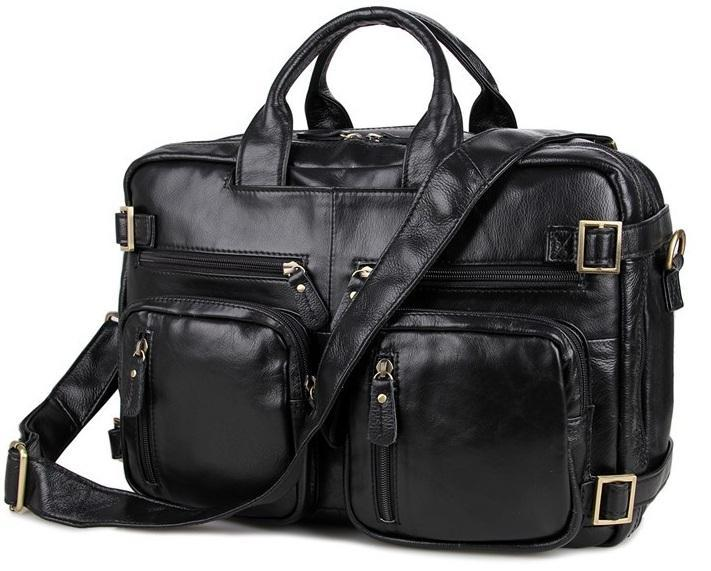 Сумка-рюкзак трансформер мужская кожаная TIDING BAG 7026A