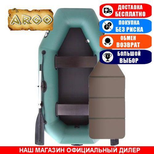 Лодка Argo A-240K. Гребная; 2,40м, 2мест. 850/950ПВХ, Сплошной настил; Надувная лодка ПВХ Арго А-240К;