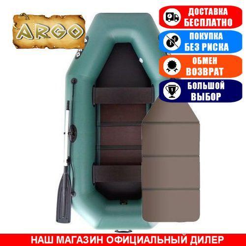 Лодка Argo A-260K. Гребная; 2,60м, 2 места, 850/950ПВХ, сплошное днище. Надувная лодка ПВХ Арго А-260К;