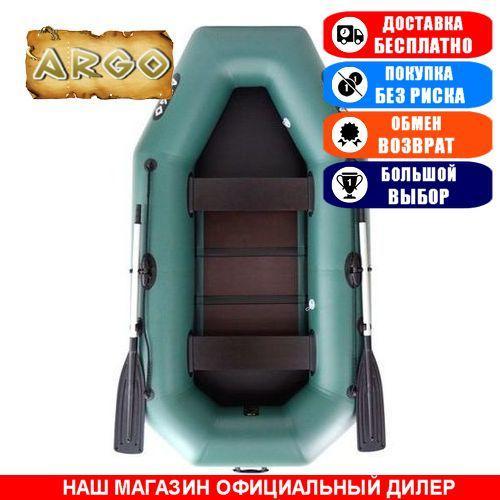 Лодка Argo A-260TB. Гребная с транцем; 2,60м, 2мест. 850/950ПВХ, Реечный настил; пр.брус. Надувная лодка ПВХ
