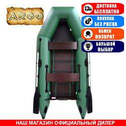 Лодка Argo AM-290. Моторная; 2,90м, 2 места, 1100/1100ПВХ, реечное днище. Надувная лодка ПВХ Арго АМ-290;