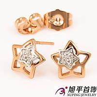 Серьги гвоздики «2 Звезды»