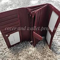 Бордовий жіночий гаманець з блоком для карток Marco Coverna