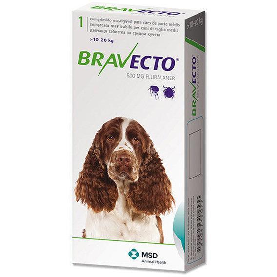 BRAVECTO (Бравекто) ОРИГИНАЛ!- Жевательная таблетка от клещей и блох для собак (10 -20 кг)
