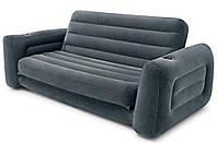 Диван надувной двухместный 2 в 1 Intex 66552 203х224х66 см, серый