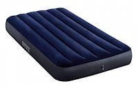 Матрас надувной одноместный Intex 64757 99х191х25 см, синий
