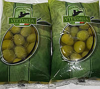 Оливки зелені з кісточкамиу розсолі 500г Італія/Оливки зелёные с косточкой в розсоле 500 г Италия