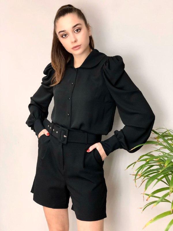 черные женские шорты