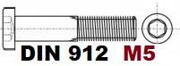 М5 02.01 8.8 DIN 912