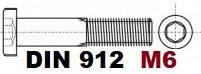 М6 02.01 8.8 DIN 912