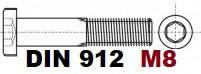 М8 02.01 8.8 DIN 912