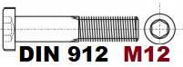 М12 02.01 8.8 DIN 912