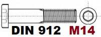 М14 02.01 8.8 DIN 912