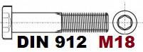 М18 02.01 8.8 DIN 912
