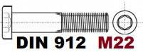 М22 02.01 8.8 DIN 912
