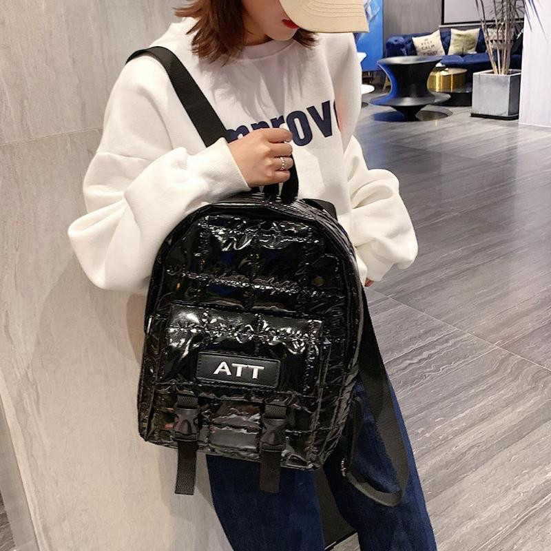 Рюкзак стеганый чёрный Mojoyce (AV190)