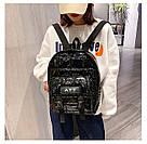 Рюкзак стеганый чёрный Mojoyce (AV190), фото 3