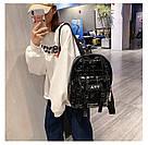 Рюкзак стеганый чёрный Mojoyce (AV190), фото 2