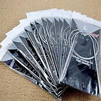 Набор круговых спиц на леске для вязания 1.5-5мм 80см (11 шт. сталь)