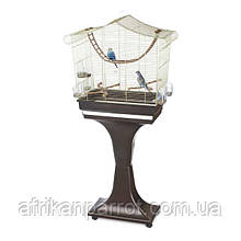 Клетка для птиц Imac Sofia латунь(61 х 33 х 63см) с подставкой (61 х 33 х 133см) Италия