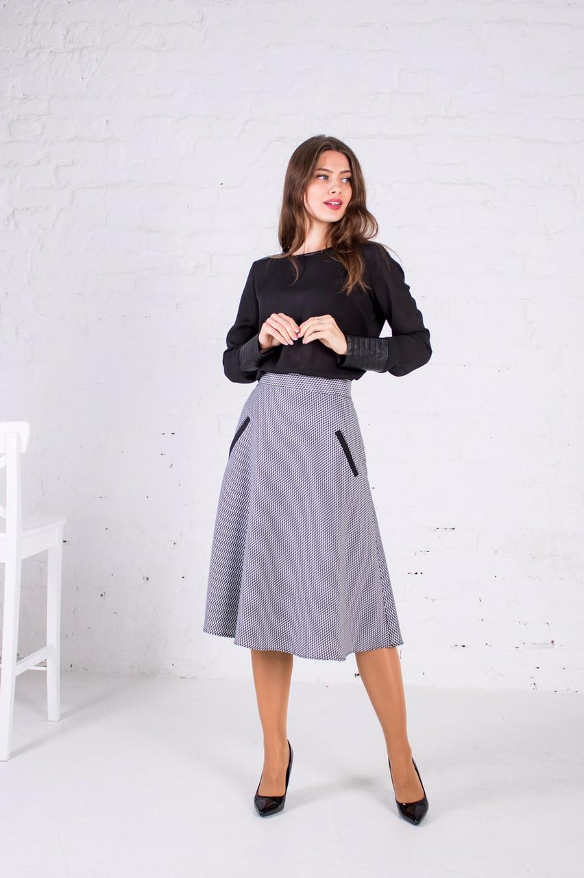 """Женская юбка с карманами """"Виталина"""" размеры 44-54"""