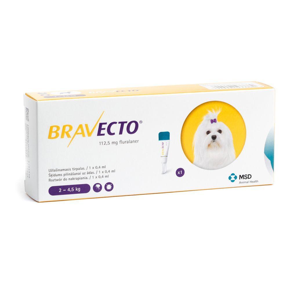 BRAVECTO (Бравекто) SPOT-ON (СПОТ-ОН) капли от блох и клещей для собак (2 -4,5 кг) ОРИГИНАЛ!