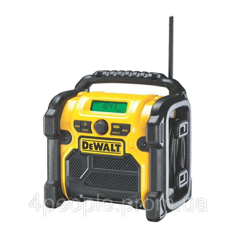 Зарядное устройство-радиоприемник DAB/FM, AUX и USB порт, DeWALT DCR020