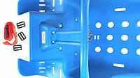 Кресло детское на велосипед, велокресло (пластик) (синее) SVT