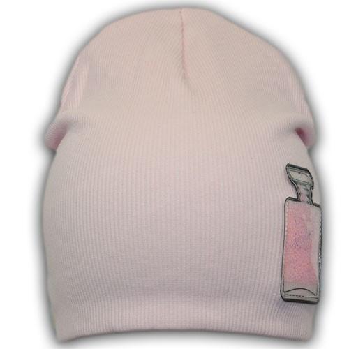 Двойная трикотажная шапка для девочки