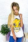 Хлопковая футболка с принтом Симба, фото 2