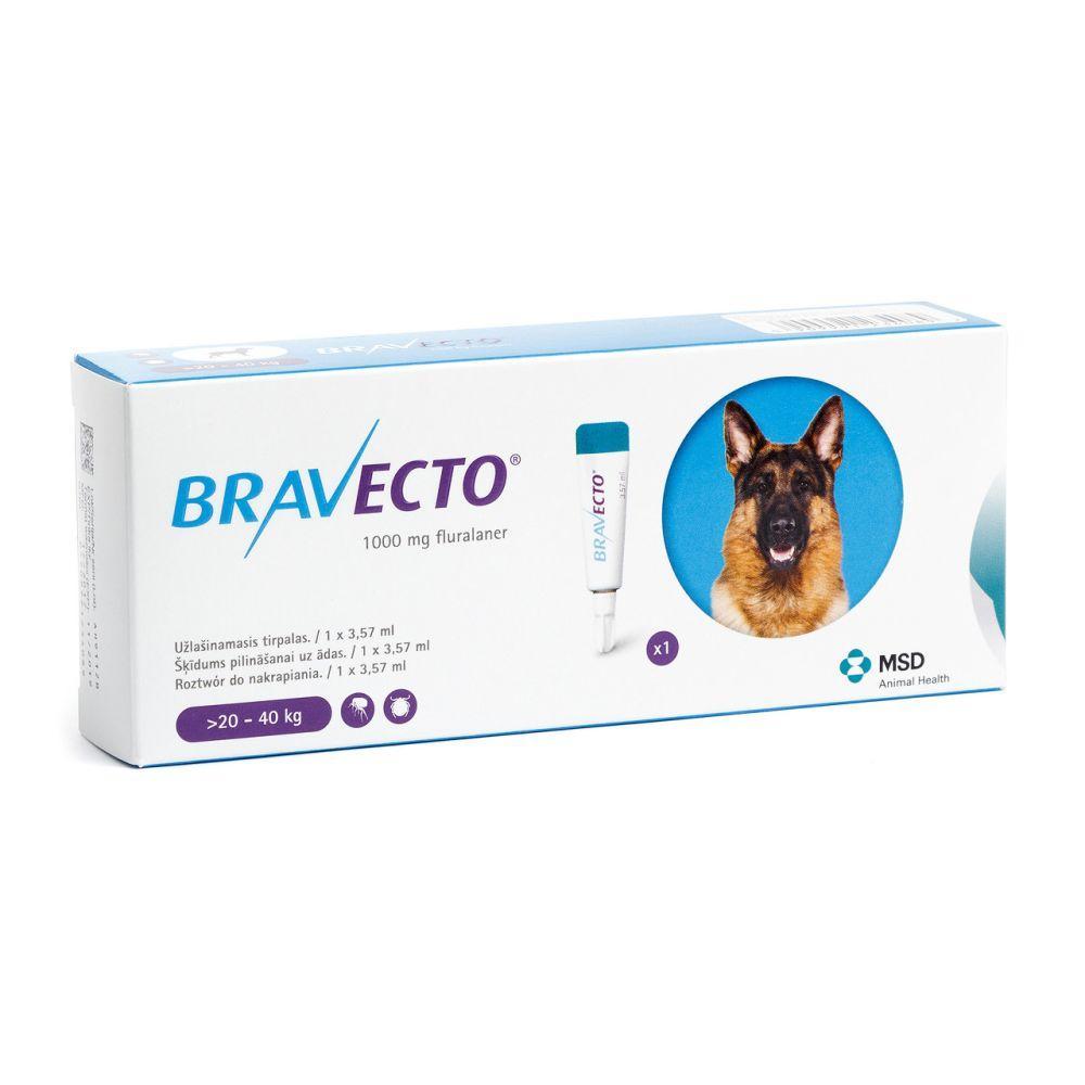 BRAVECTO (Бравекто) SPOT-ON (СПОТ-ОН) капли от блох и клещей для собак (20  - 40 кг) ОРИГИНАЛ!