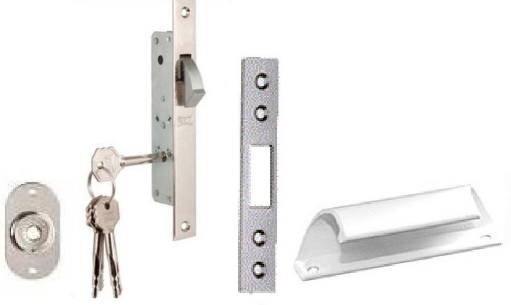 Комплект фурнитуры на одностворчатые ставни (KALE) крестообразный ключ
