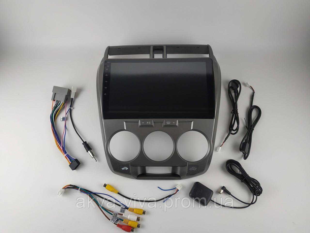 Штатная автомагнитола Honda City 2008-2014 на Android с хорошей звуковой настройкой (М-ХС-10)