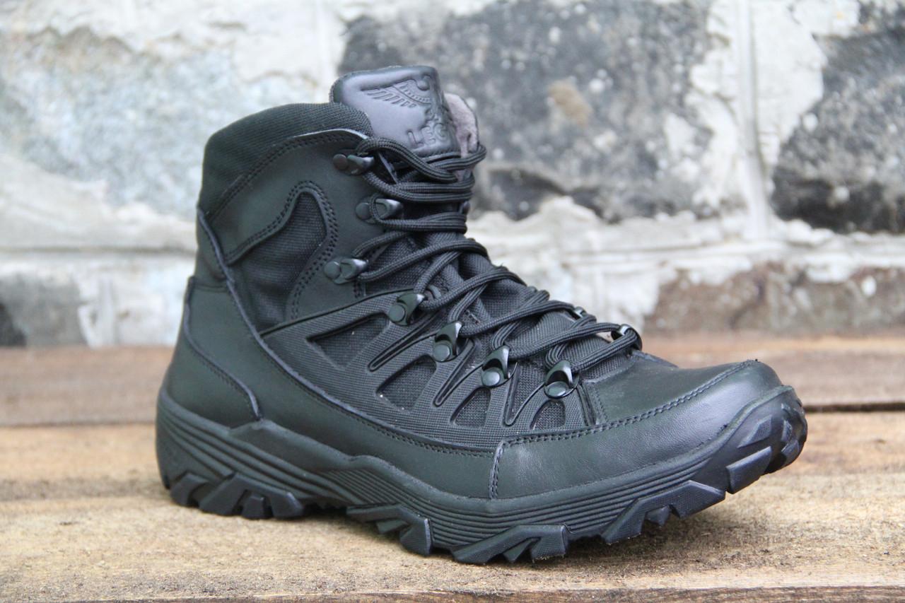 Тактические ботинки берцы из натуральной кожи CADDY BLACK