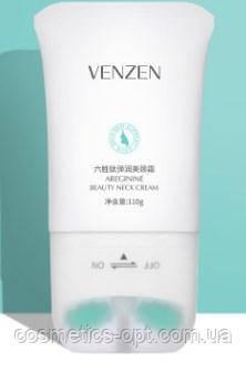 Укрепляющий крем для шеи и декольте с массажной роликовой насадкой VENZEN Areginine Beauty Neck, 110 г