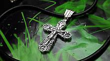 Шкіряний шнур з хрестом
