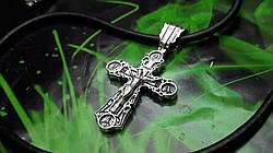 Кожаный шнур с крестом