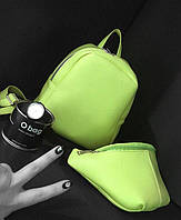Женский рюкзак маленький оливковый/ салатовый эко-кожа ЕСТЬ РАЗНЫЕ ЦВЕТА