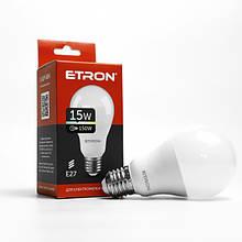 Лампа LED зв ETRON A65 15W 4200K 220V E27 1-ELP-004