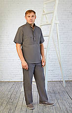 Мужской медицинский костюм Марик - Чоловічий медичний костюм Марик - Костюм для массажиста, фото 3