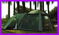 Палатка кемпинговая (470x250 см) 4х местная + КУХНЯ-ШАТЕР (два входа)