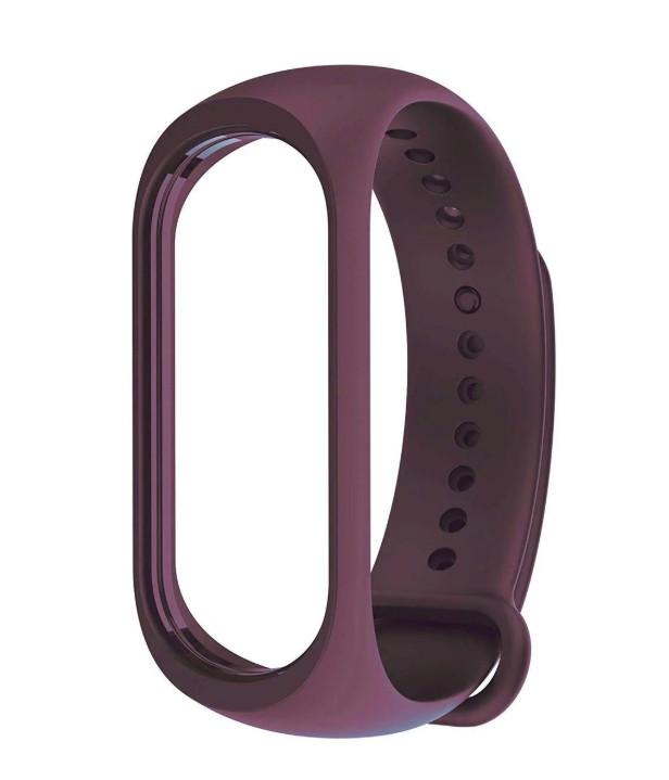Ремешок для фитнес - трекера Xiaomi Mi Band 3/4 Темно фиолетовый