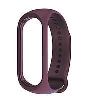 Ремешок для фитнес - трекера Xiaomi Mi Band 3/4 Темно фиолетовый, фото 1