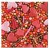 """Посыпка ТМ""""Украса""""перламутровая сердечки красные №21 7г (код 01469)"""
