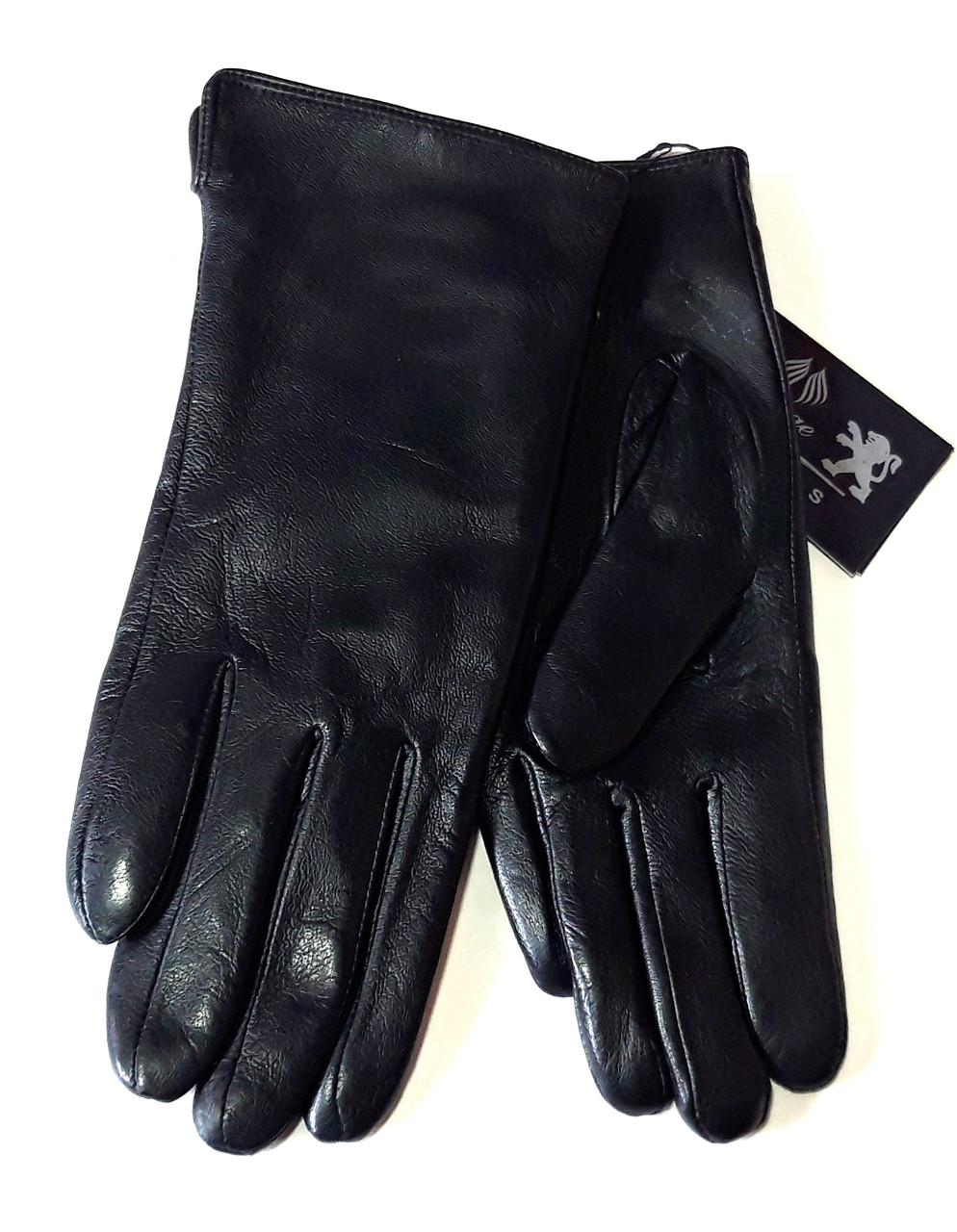 Кожаные женские перчатки, шерсть сетка (размеры 6,5-8,5)