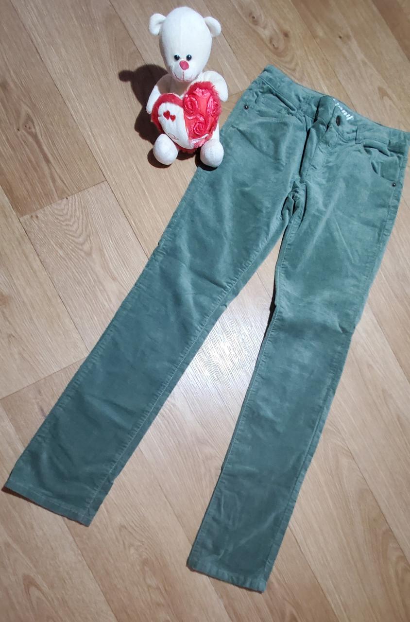 Стильные темно зеленые велюровые брюки скинни на девочку Crazy8 (США) (Размер 12Т)
