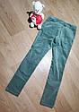 Стильные темно зеленые велюровые брюки скинни на девочку Crazy8 (США) (Размер 12Т), фото 2