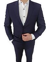 Костюм мужской приталенный Men's Town Panamera 46 размер Темно-синий