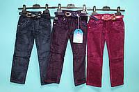 Вельветовые штаны для девочки не утепленные