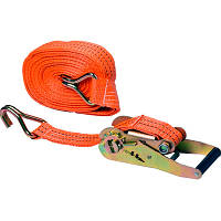 Стяжной ремень с трещоткой 10м стяжка грузовая крюк-крюк